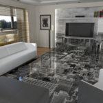 Гостиная и 3Д пол