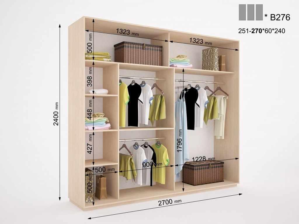 Вариант планировки шкафа 1