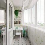 Керамогранит на балконе на полу