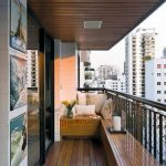 Пол на балконе из дерева
