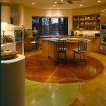 Мармолеум на полу в кухне