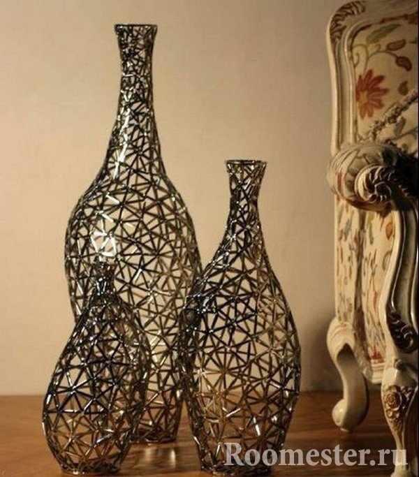Декоративные плетеные вазы