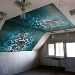 Потолок с двухцветной фотопечатью