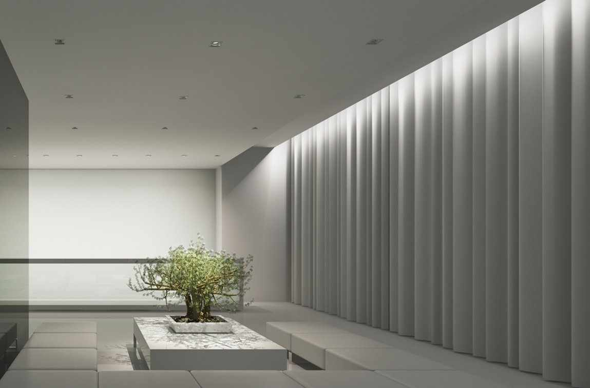 Белые шторы в современном интерьере