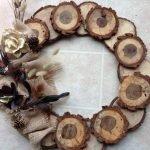 Из деревянных спилов