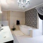 Дамаск в декоре ванной