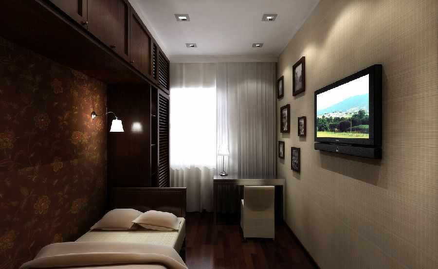Оформление маленькой комнаты обоями