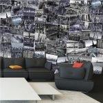 Черная мягкая мебель