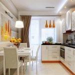 Горизонтальные полоски на кухне
