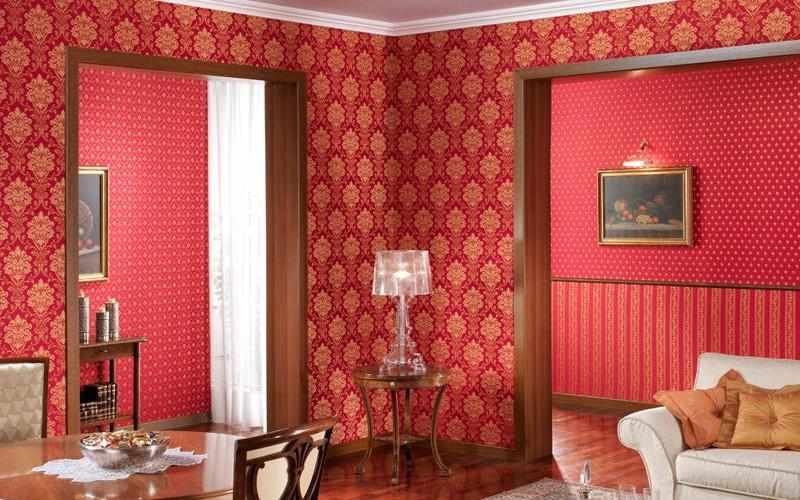 Текстильные обои в интерьере квартиры