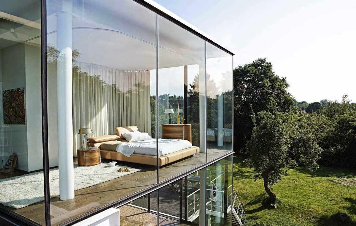 Дом с панорамным остеклением