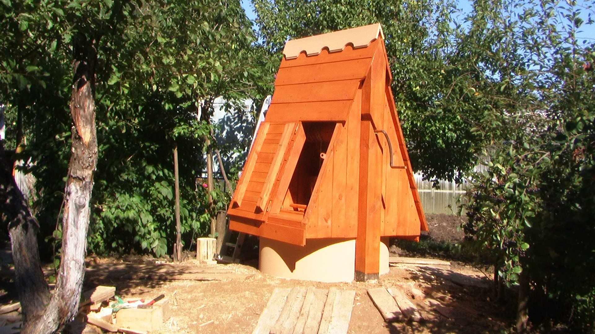 Как соорудить домик над колодцем