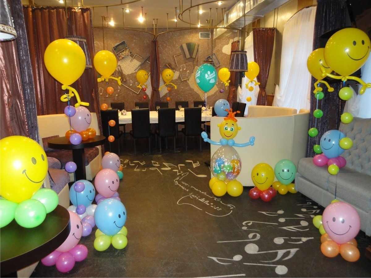 Оформление шарами детского праздника