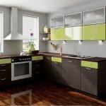 Кухня из трех цветов