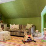 Стены оливкового цвета