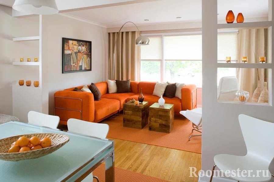 Сочетание белого и оранжевого цвета