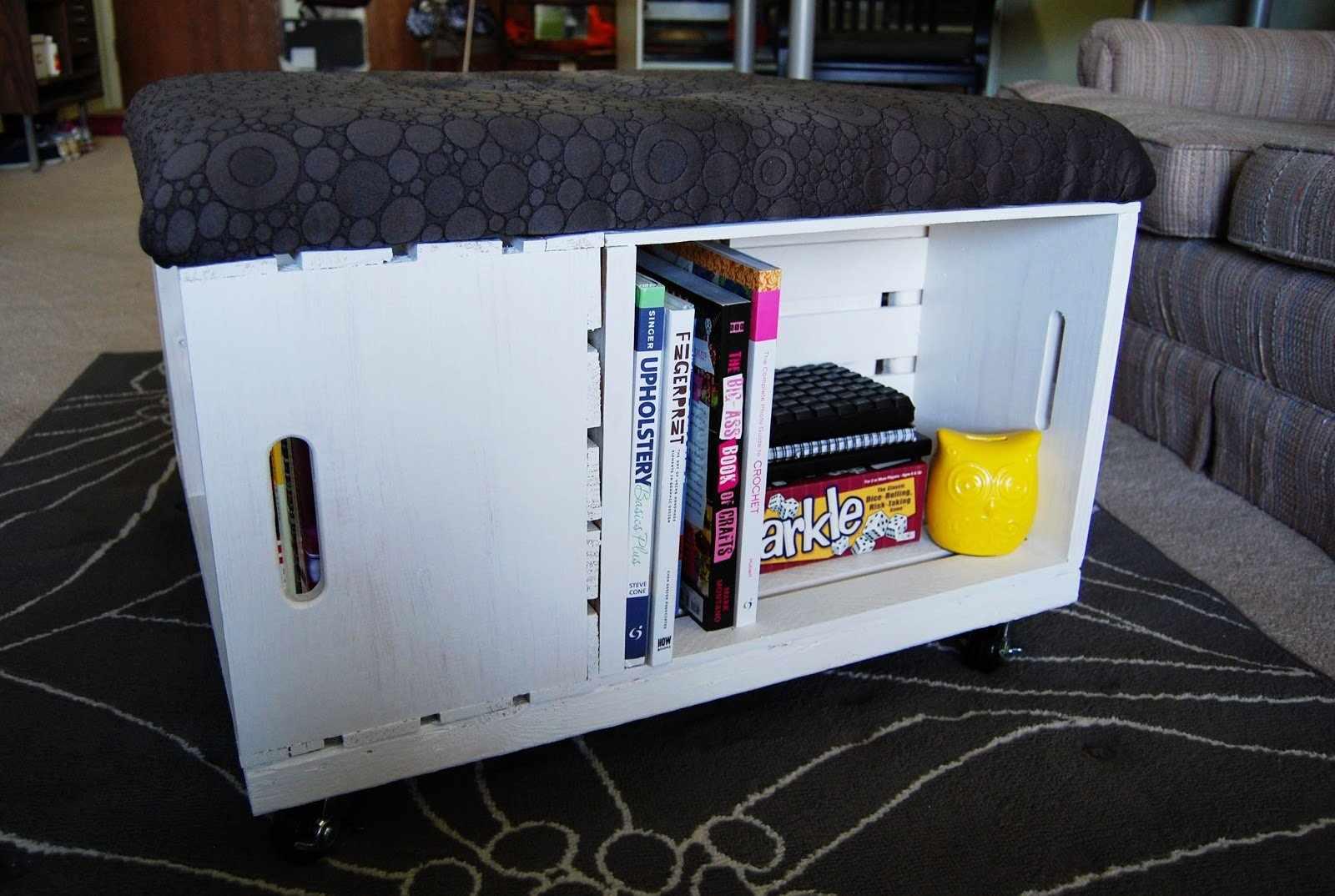Ящик-пуф с защитным чехлом