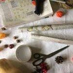 Газета, скотч и декор