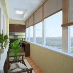 Застекленный теплый балкон