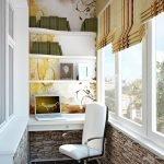 Светлый кабинет на балконе