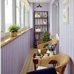 Лиловый балкон