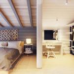 Перегородка между спальней и гардеробной