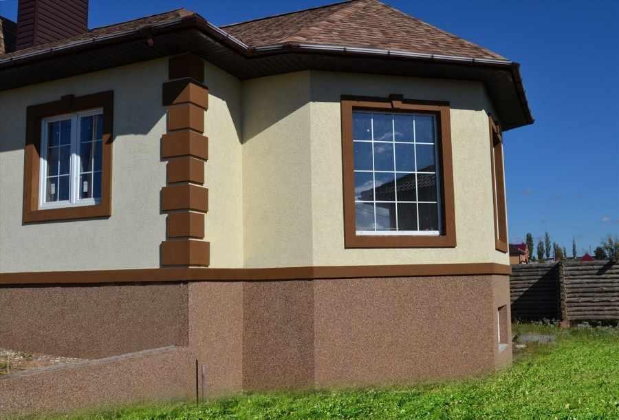 фасадная штукатурка на доме