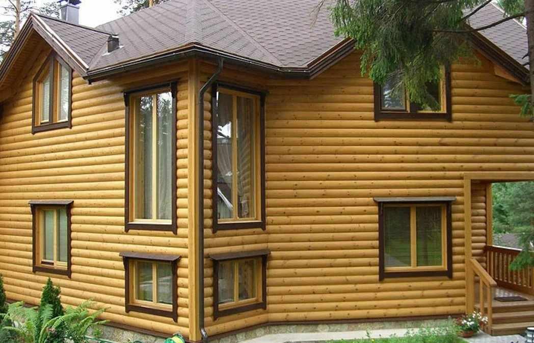 Деревянный сайдинг на фасаде дома