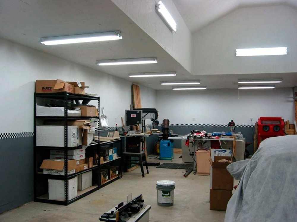 Освещение в гараже
