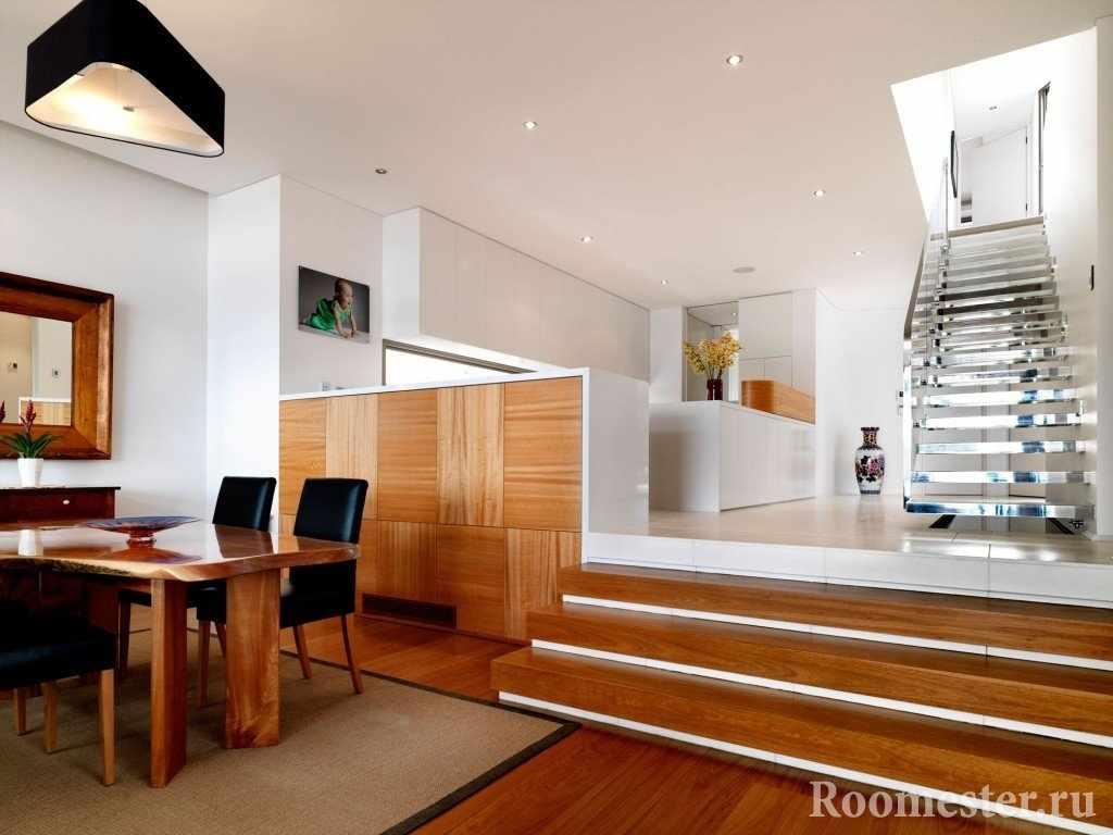 Мдф панели с отделке стен и лестницы