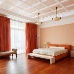 Дизайн интерьера коричневой спальни
