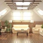 Потолок с окном