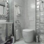 Туалет в серых тонах