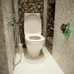 Отделка туалета в светлых тонах