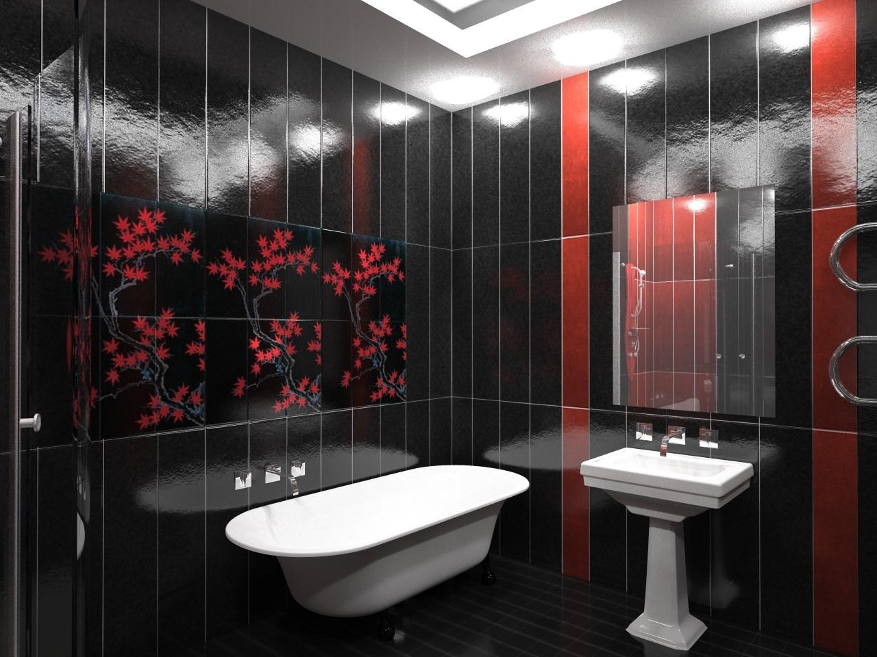 Черно-красные панели