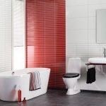 Бело-красные панели