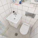 Отделка туалета белым цветом
