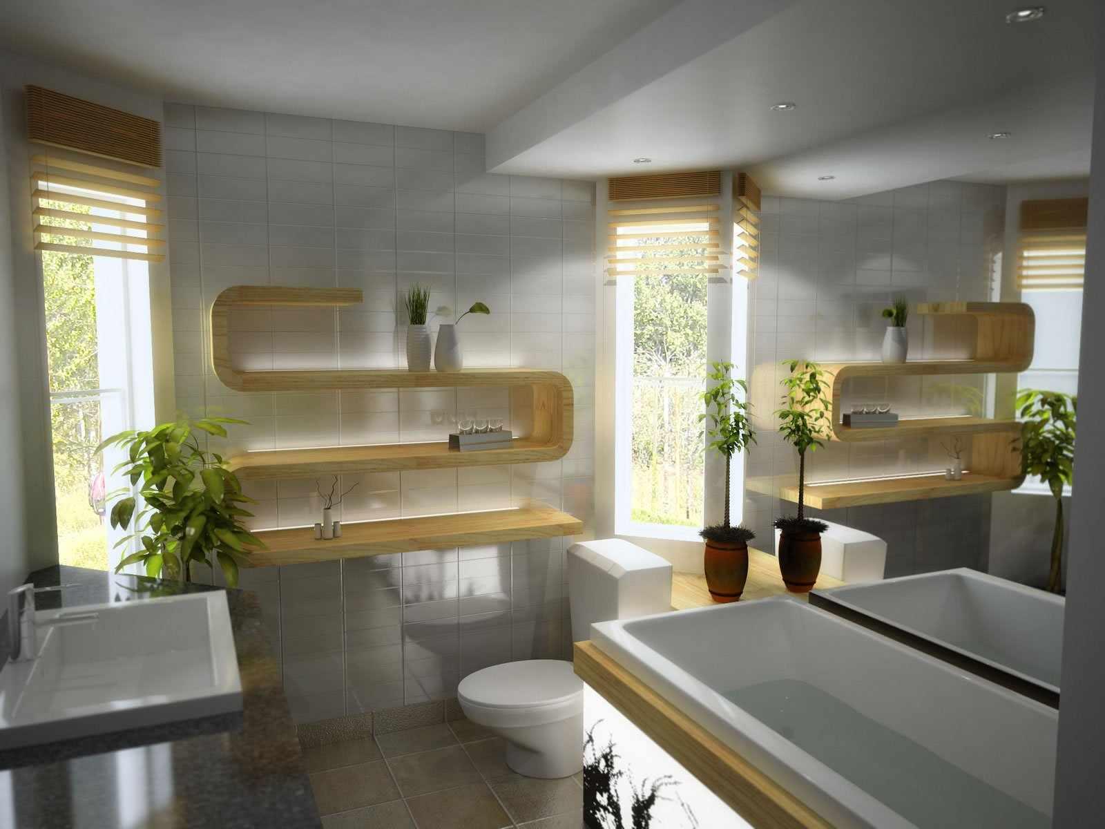 Серый поток в ванной