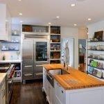 Точечная подсветка потолка на кухне