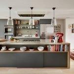 Полки в кухне-остров