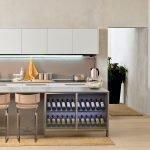 Кухня островного типа в стиле минимал