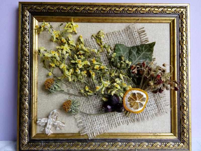 Объемное панно из растений
