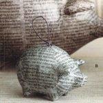 Свинка папье-маше