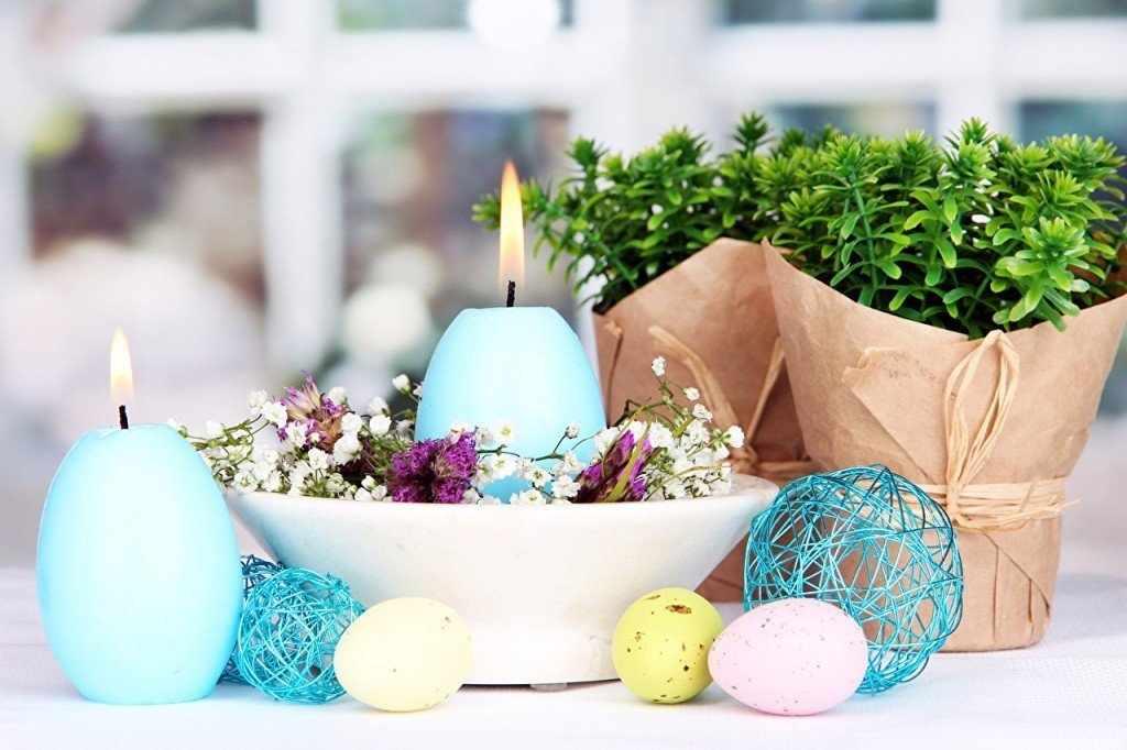 Голубые пасхальные свечи