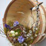 Пасхальный венок в виде гнезда