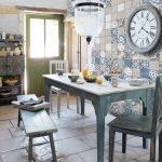 Клетка пэчворк в интерьере кухни