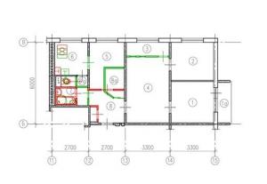 Схема расположения комнат