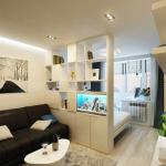 Разделение квартиры на зоны