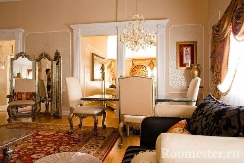 Шикарная мебель в гостиной