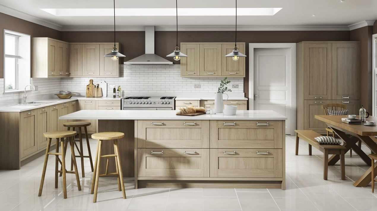 Песочная мебель в кухне